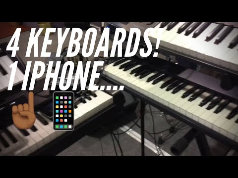 Running 4 Keyboards(and click tracks) Using ONLY my iPhone!😱