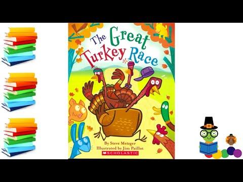 The Great Turkey Race - Thanksgiving Kids Books Read Aloud