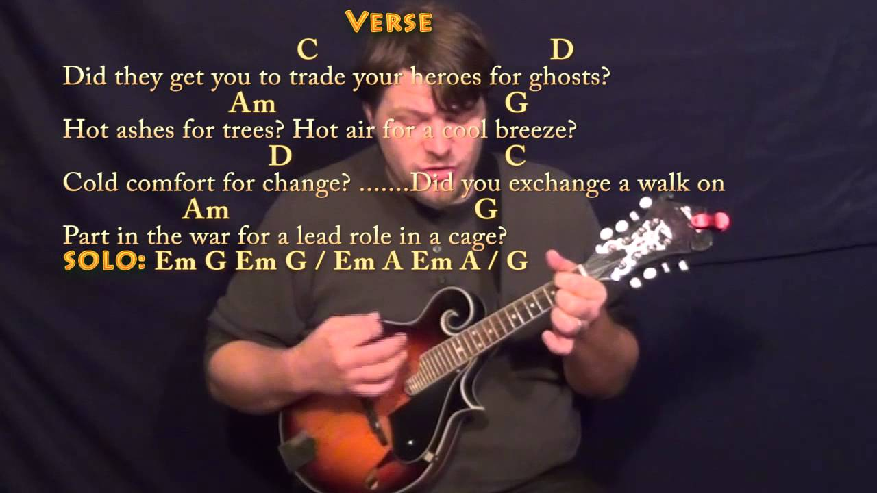 Wish You Were Here (Pink Floyd) Mandolin Cover Lesson with Chords/Lyrics