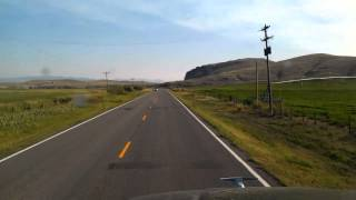 Starting out in Twin Bridges, Montana on State Route 41 South