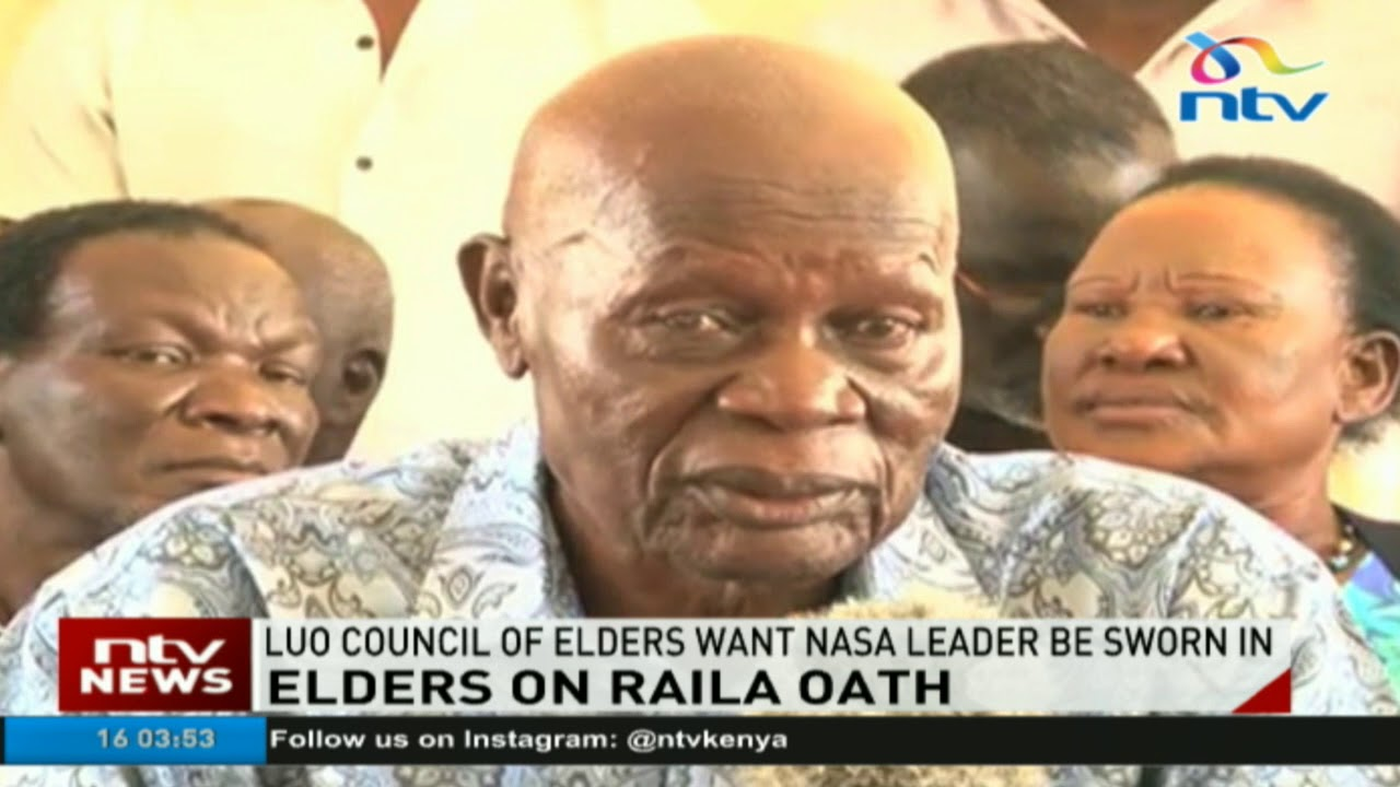 Luo council of elders want Nasa leader be sworn in