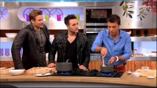 Lee Ryan and Antony Costa from Blue at Let