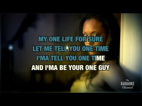 """One Time in the style of """"Justin Bieber"""" karaoke video with lyrics (no lead vocal)"""
