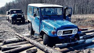Старый Land Cruiser, УАЗ с V8 и Гелик рубятся на бездорожье! #ЛегендаНомер40. Серия2