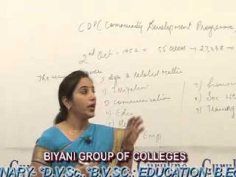 Community Development Programme (BA, MA )Lecture by Dr. Binu Singh.