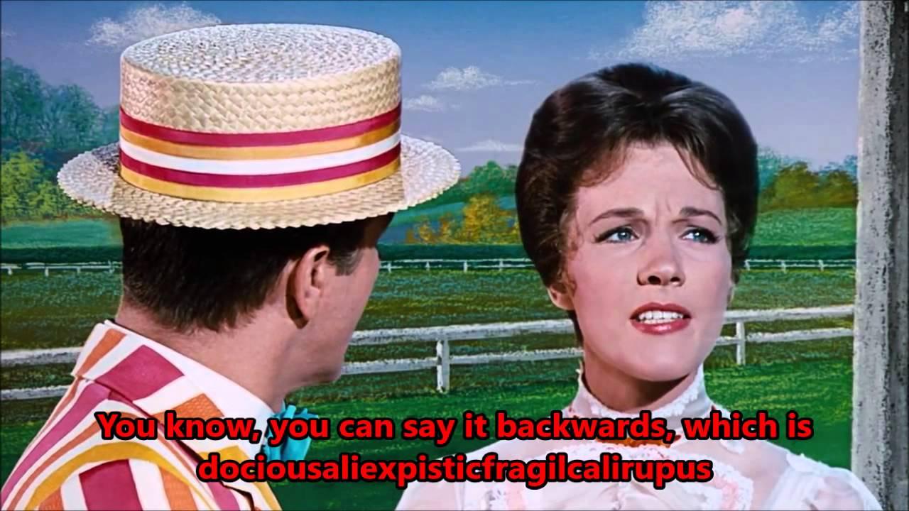 Supercalifragilisticexpialidocious Lyrics Mary Poppins Youtube