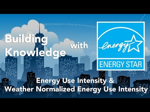Building Knowledge with ENERGY STAR: Energy Use Intensity & Weather Normalized Energy Use Intensity