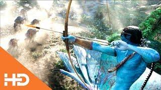 Джейк вместе с племенем Оматикайя охотятся на быков ✦ Аватар (2009)