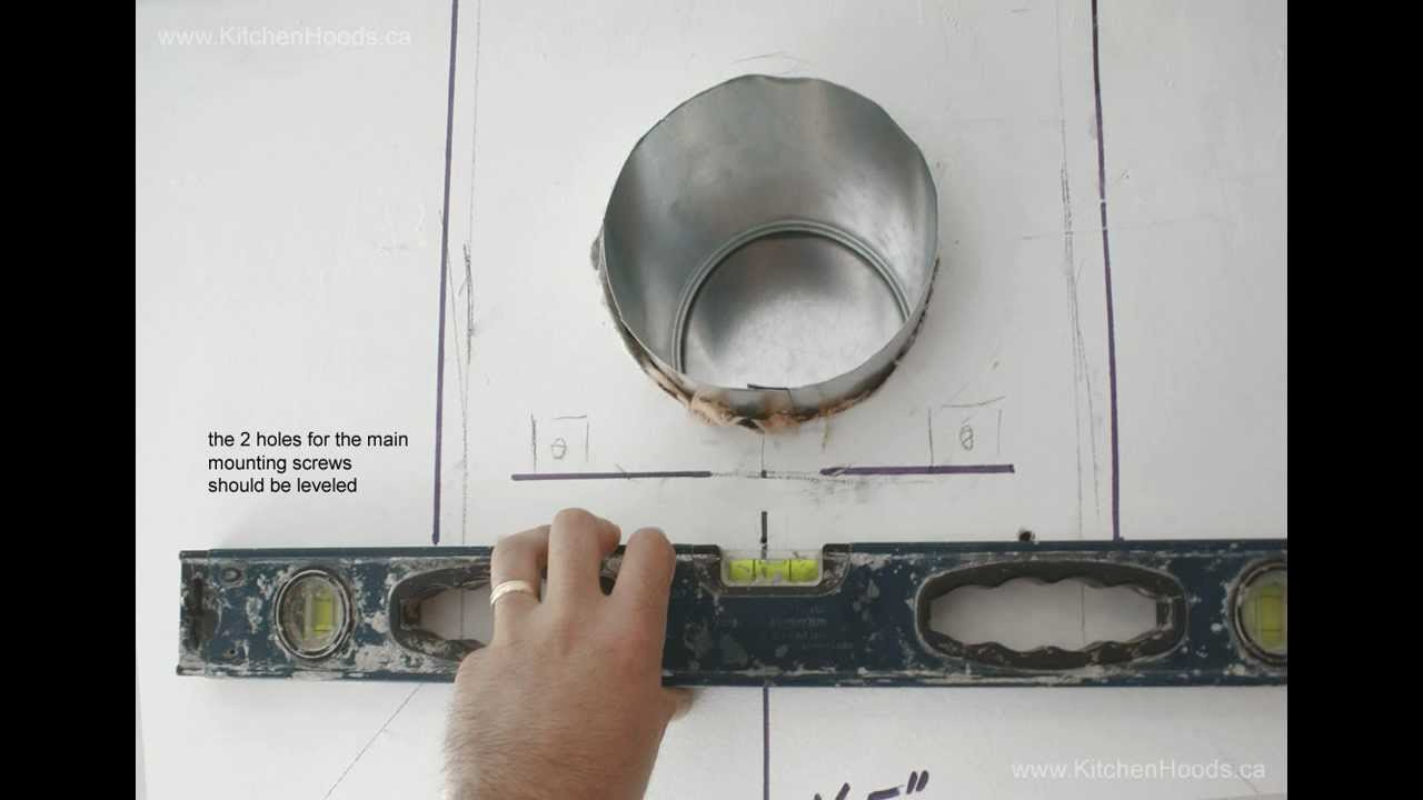How to install wall mount range hood youtube - How to vent a microwave on an interior wall ...
