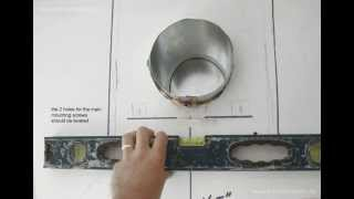 How to install wall mount range hood