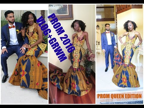 PROM 2016 GRWM + Vlog, & Pictures! | ANKARA DRESS