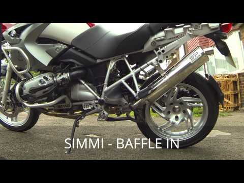 simmi exhaust sound test bmw r 1200 gs 39 05 youtube. Black Bedroom Furniture Sets. Home Design Ideas