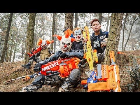 LTT Films : Warriors Silver Flash Nerf Guns Fight Crime Group Tiger Mask Guileful 2