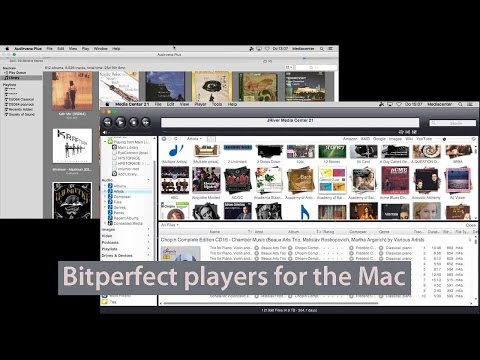 Bitperfect software players for Mac: Audirvana 2+ and JRiver Media Center 21