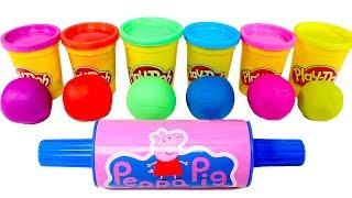 PEPPA PIG 🌈 Aprende los colores con moldes Play Doh de Peppa Pig