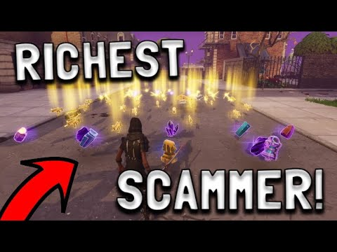 RICHEST Scammer Gets Scammed For Whole Account! In fortnite save the world pve