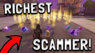 RICHEST Scammer Gets Scammed For Whole Account! In fortnite save the world pve - EazyDrop