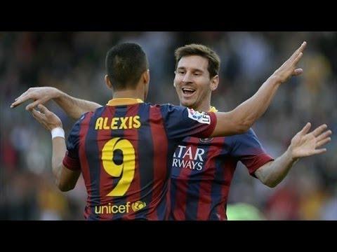 Lionel Messi Hat-rick vs Osasuna |All 3 goals| 16/3/14 HQ