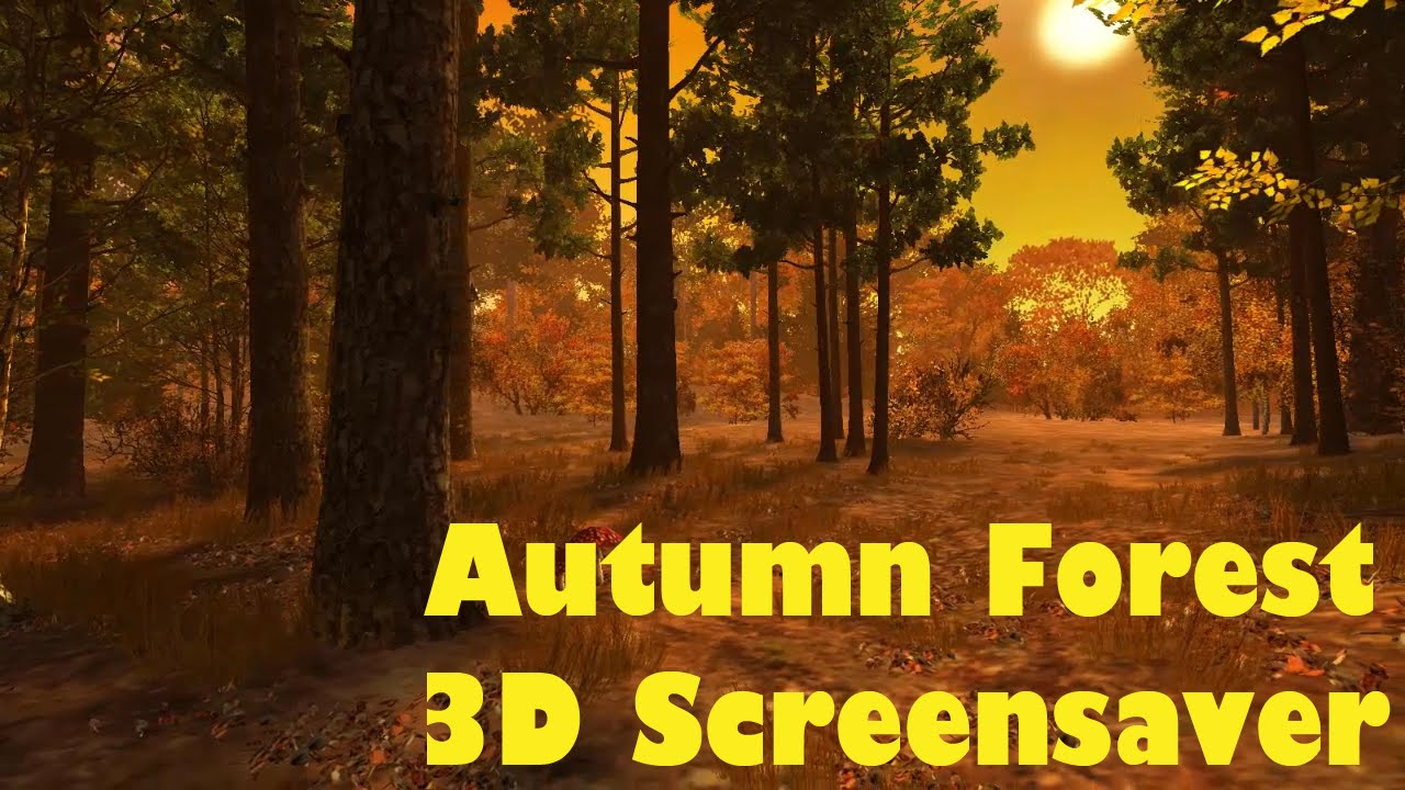 Hd Autumn Forest 3d Screensaver Animated Wallpaper Youtube