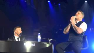 Robbie Williams and Gary Barlow O2 Friday 23 November 2012  Different