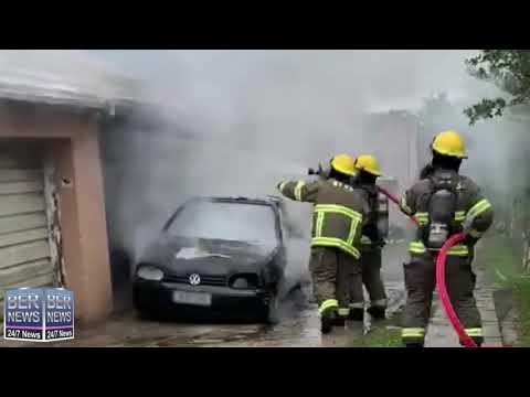 BFRS Extinguish Vehicle Fire In Smiths Parish, February 28 2020