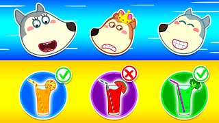 Wolf Family🌞 Wolfoo With Yummy Fruits and Vegetables - Wolfoo Learns Good Habits for Kids