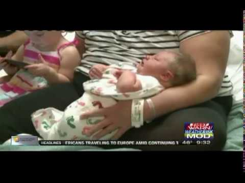 Large Baby Born Without C-Section at 13 lbs 11 oz, WQRF, Rockford, IL, May 1, 2017