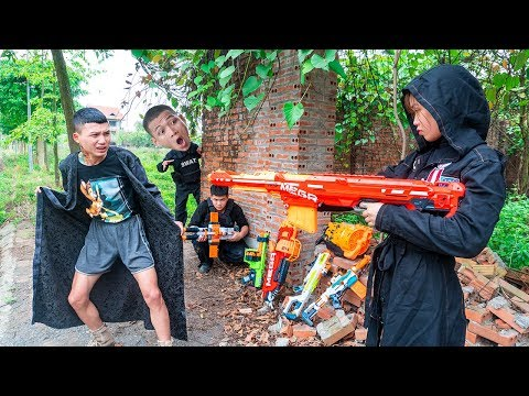 Nerf War Assassin's Creed Couple S.W.A.T Nerf Guns Theft Weapons Impossible Mission Funny Nerf Movie thumbnail