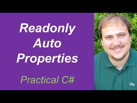 Practical C# - Readonly Auto Properties in C#