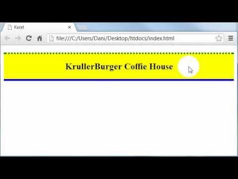 MAGYAR HTML és CSS Tutorial - 22 - Keret