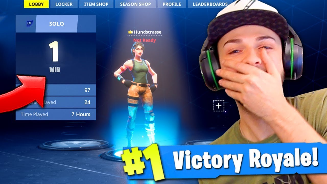 Ali A Fortnite ali-a reacts to his 1st victory royale in fortnite (big noob!)