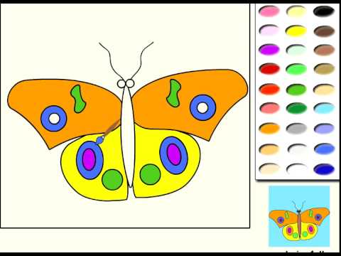 papillon jeu de coloriage en ligne jeux pour enfants. Black Bedroom Furniture Sets. Home Design Ideas