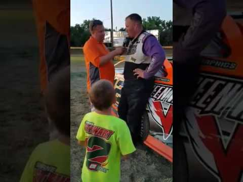 """Chad Becker """"HotShoe"""" 🏆Victory Lane  Casino Speedway"""