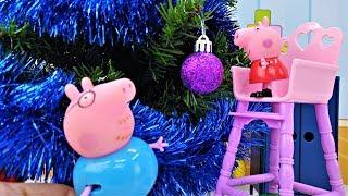 Свинка Пеппа едет за ёлкой! Новогоднее видео для детей