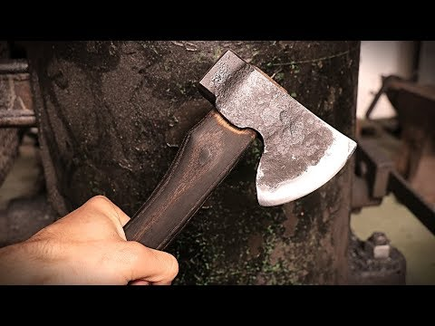 Making a Hatchet with ALEC STEELE - Forging with a Sledge Hammer!