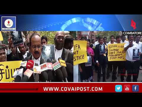 Advocates of Coimbatore demand justice for Asifa and law student Priya