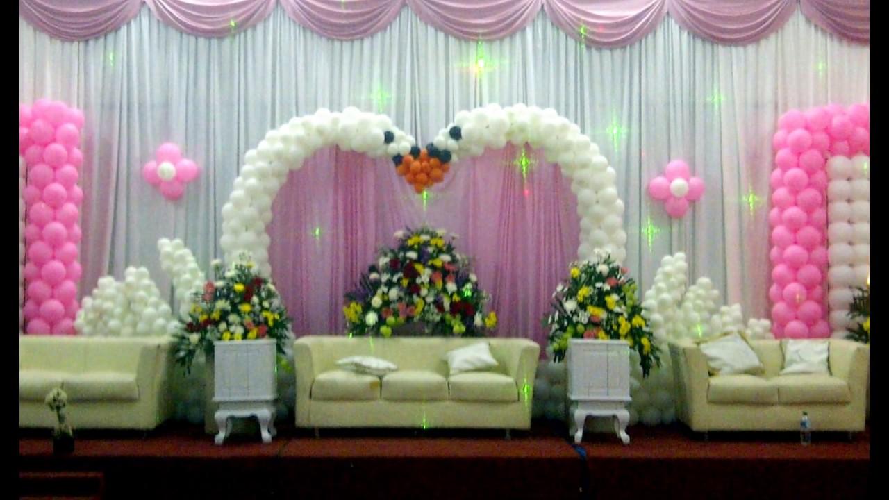 Dekorasi balon untuk acara Pernikahan
