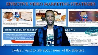 Effective online video marketing strategies