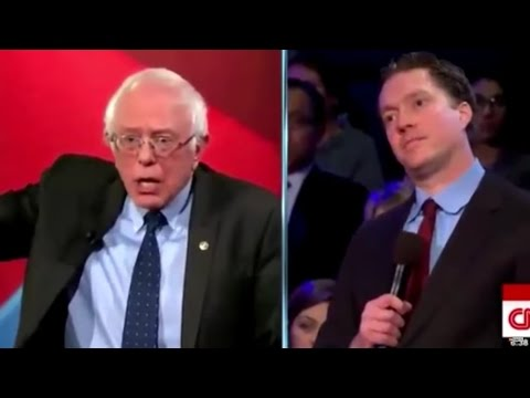 CNN Town Hall: Bernie Has Very Little Patience For This Trump-Supporting Snowflake