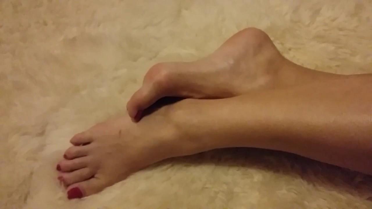 Mature bare feet