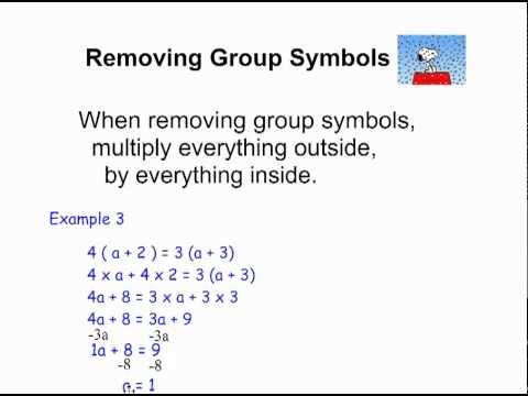 grouping symbols math worksheets equations with variables on both sides video algebra ck 12. Black Bedroom Furniture Sets. Home Design Ideas
