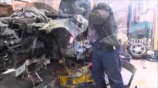BMW 1. Body repair. Ремонт кузова.(The front car repair. Ремонт переда машины., 2016-04-21T18:47:13.000Z)
