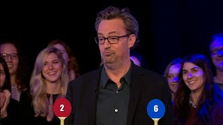 Repeat youtube video Mathew Perry Friends Trivia Table Tennis challenge with Alex jones  the one show