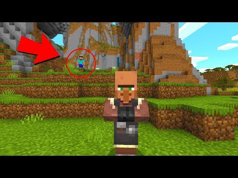Herobrine attacked the villagers in Minecraft.. (SCARY)