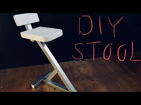 DIY Steel and wood stool
