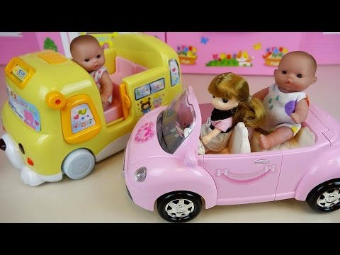 Thumbnail: Baby doll Bus and car toys play
