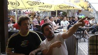 Валерий Дайнеко с друзьями посмотрел матч
