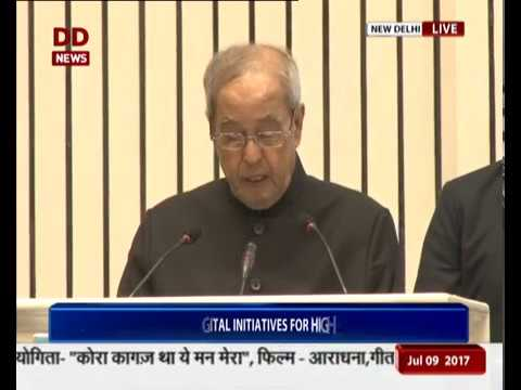 President Pranab Mukherjee launches SWAYAM Prabha