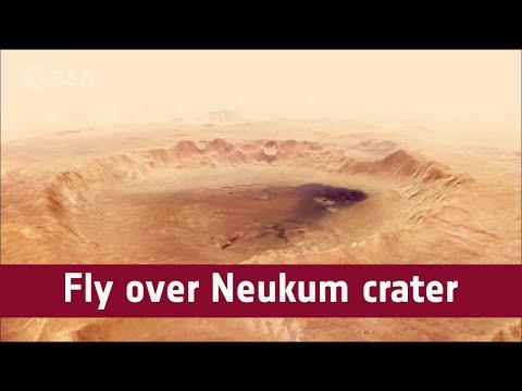 Fly over Neukum crater