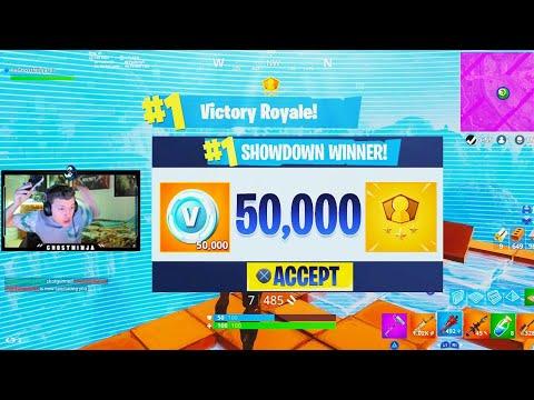 How To Win 50 000 V Bucks Free New Solo Showdown Gameplay